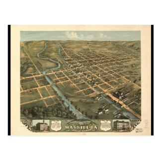 Bird's eye view Massillon Stark County Ohio (1870) Postcard