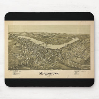 Bird's Eye View Morgantown West Virginia (1897) Mouse Pad