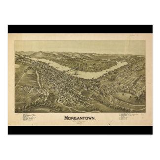 Bird's Eye View Morgantown West Virginia (1897) Postcard