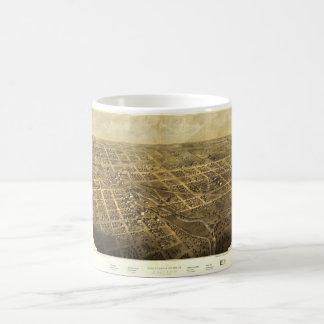 Bird's Eye View of Albion Michigan (1868) Coffee Mug
