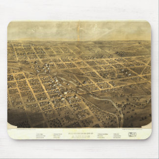 Bird's Eye View of Albion Michigan (1868) Mouse Pad
