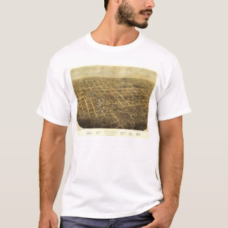 Bird's Eye View of Albion Michigan (1868) T-Shirt