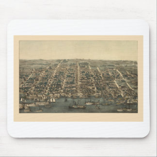 Birds Eye View of Alexandria Virginia in 1863 Mouse Pad