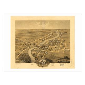 Bird's Eye View of Anoka Minnesota (1869) Postcard