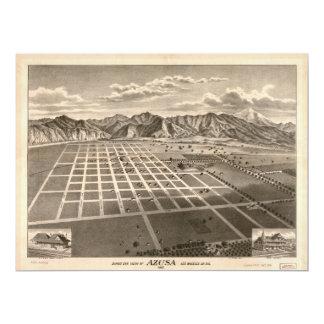 Bird's Eye View of Azusa, California (1887) Card
