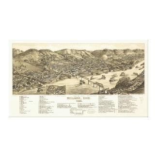 Bird's Eye View of Bellaire, Ohio (1882) Canvas Print
