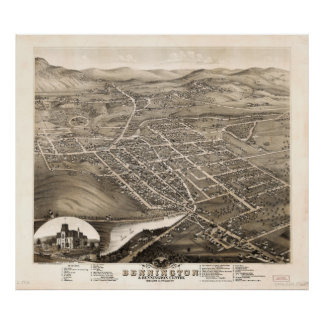 Bird's Eye View of Bennington Vermont (1877) Poster