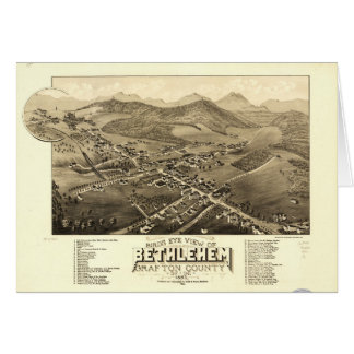 Bird's eye view of Bethlehem, New Hampshire (1883) Card