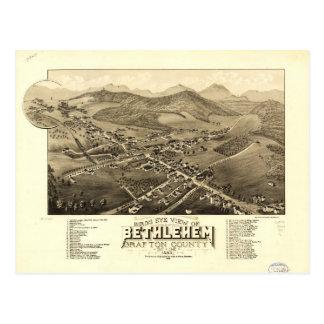 Bird's eye view of Bethlehem, New Hampshire (1883) Postcard