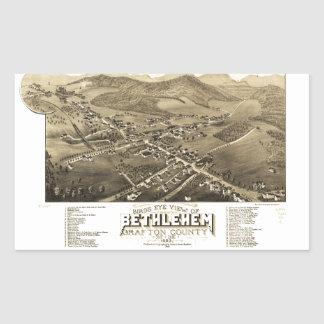 Bird's eye view of Bethlehem, New Hampshire (1883) Rectangular Sticker