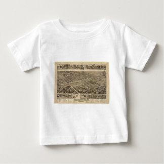 Bird's Eye View of Birmingham Alabama in 1885 Baby T-Shirt