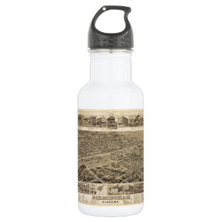 Bird's Eye View of Birmingham Alabama in 1885 Stainless Steel Water Bottle