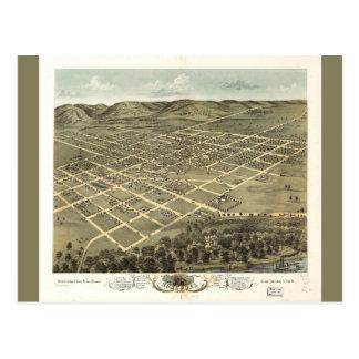 Bird's eye view of Boscobel Wisconsin (1869) Postcard