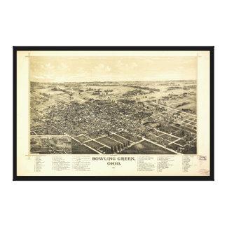 Bird's Eye View of Bowling Green Ohio (1888) Canvas Print