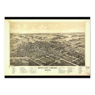 Bird's Eye View of Bowling Green Ohio (1888) Card