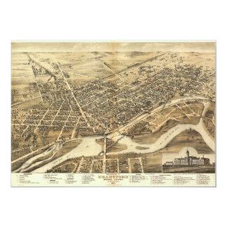 Bird's Eye View of Brantford Ontario Canada (1875) Card