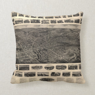 Bird's Eye View of Bristol, Connecticut (1907) Throw Pillow