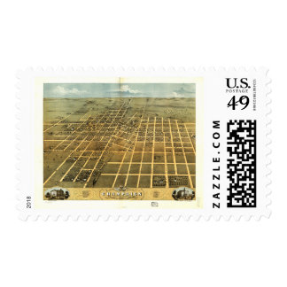 Bird's Eye View of Champaign Illinois (1869) Stamp