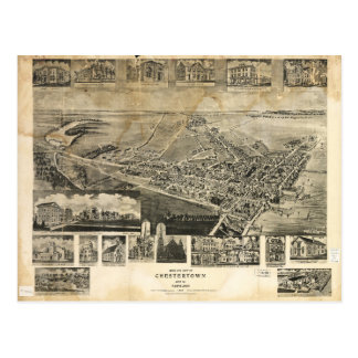 Bird's Eye View of Chestertown, Maryland (1907) Postcard