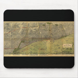 Bird's Eye View of Chicago Illinois (1893) Mouse Pad