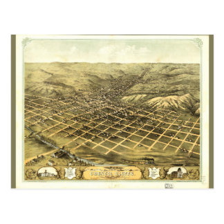 Bird's eye view of Council Bluffs Iowa (1868) Postcard