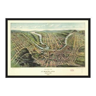 Bird's eye view of Cumberland Maryland (1906) Canvas Print