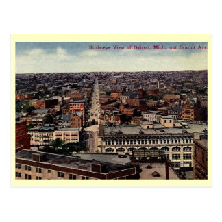 Bird's Eye View of Detroit c1915 Vintage Postcards