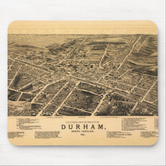 Bird's-eye view of Durham, North Carolina (1891) Mouse Pad