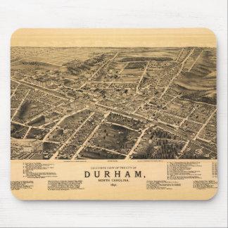 Bird's-eye view of Durham, North Carolina (1891) Mouse Pad