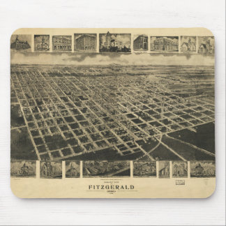Bird's eye view of Fitzgerald, Georgia (1908) Mouse Pad