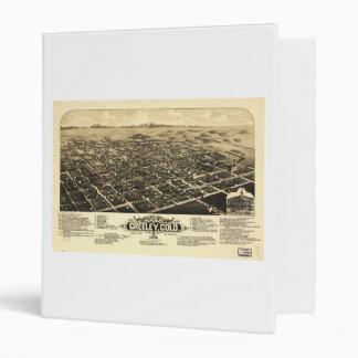 Bird's eye view of Greeley Colorado (1882) 3 Ring Binder