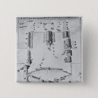 Bird's-eye view of ideal plantation buildings button