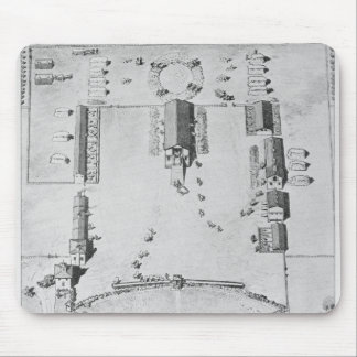 Bird's-eye view of ideal plantation buildings mouse pad