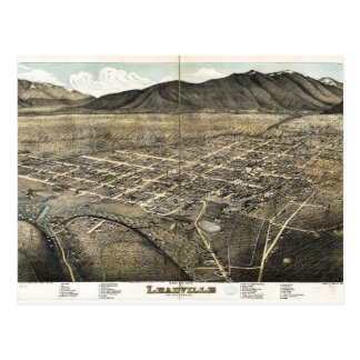 Bird's eye view of Leadville, Colorado (1879) Postcard