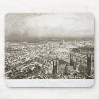Bird's Eye View of London from Westminster Abbey, Mouse Pad