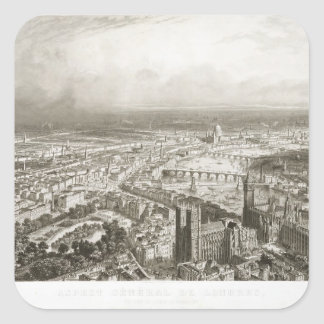 Bird's Eye View of London from Westminster Abbey, Square Sticker