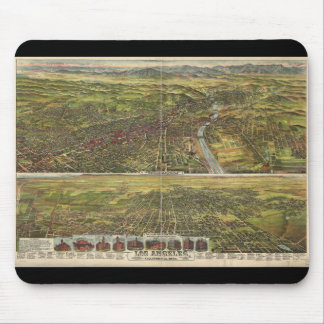 Bird's Eye View of Los Angeles California in 1894 Mouse Pad