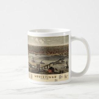 Bird's eye view of Louisville, Kentucky (1876) Coffee Mug