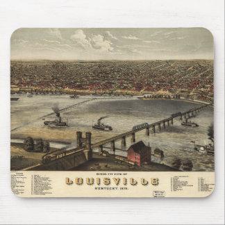 Bird's eye view of Louisville, Kentucky (1876) Mouse Pad