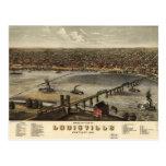 Bird's eye view of Louisville, Kentucky (1876) Postcard