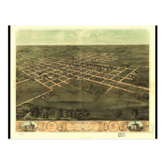 Bird's Eye View of Marion Linn County Iowa (1868) Postcard