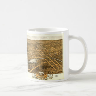 Bird's Eye View of Naperville Illinois (1869) Coffee Mug