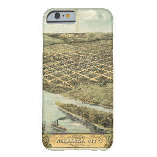 Bird's Eye View of Nebraska City, Nebraska (1868) Barely There iPhone 6 Case