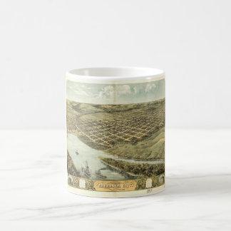 Bird's Eye View of Nebraska City, Nebraska (1868) Coffee Mug