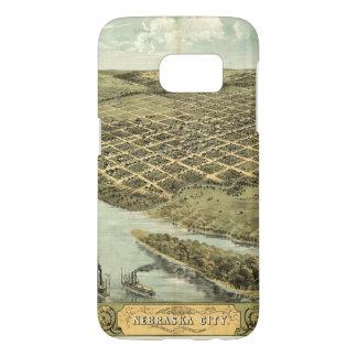 Bird's Eye View of Nebraska City, Nebraska (1868) Samsung Galaxy S7 Case