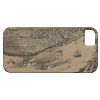 Birds' eye view of New Orleans from 1851 iPhone 5 Covers