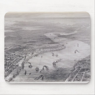 Bird's-Eye View of New Orleans Mouse Pad