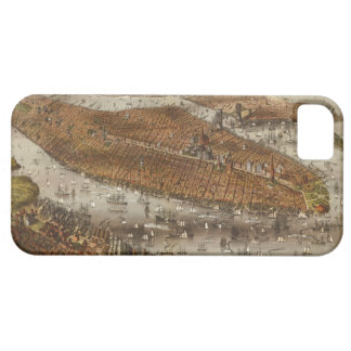 Bird's Eye View of New York and Brooklyn in 1875 iPhone 5 Cases