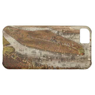 Bird's Eye View of New York and Brooklyn in 1875 iPhone 5C Covers