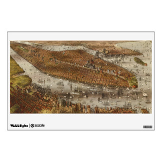 Bird's Eye View of New York and Brooklyn in 1875 Room Sticker